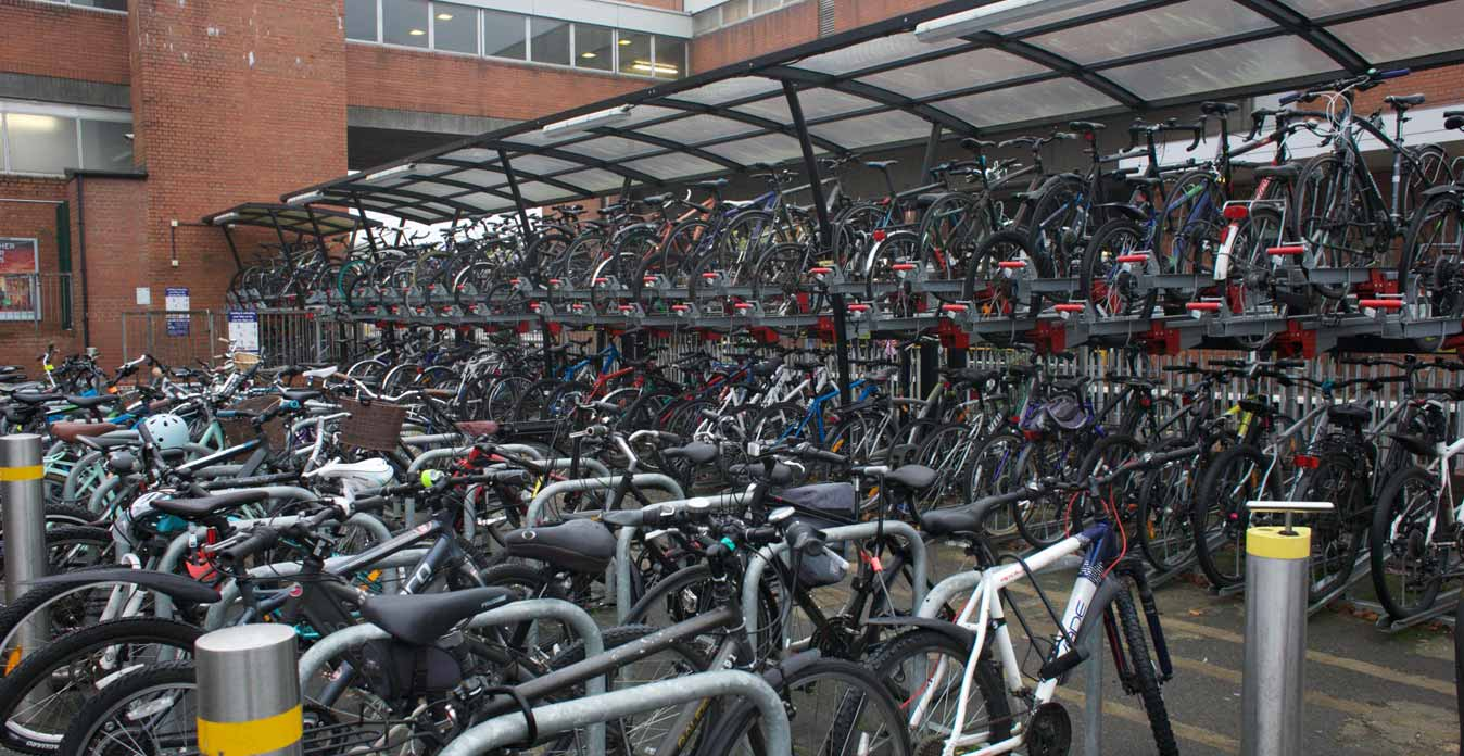 Stevenage Station's Bike Racks